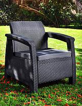 Кресло пластиковое Corfu Duo, серое, фото 2