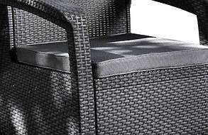 Комплект кресел пластиковых Corfu Duo, серый, фото 2
