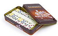Домино настольная игра в металлической коробке IG-3974 (кости-пластик,h-4,3см, р-р 19x11,5x3,5см)