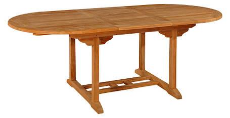 Тиковый стол раскладной овальный TE-150T, фото 2