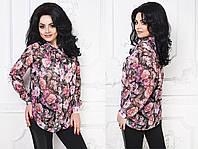 "Стильная блузка для пышных дам "" Шифон "" Dress Code"