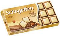 Шоколад Schogetten Trilogia белый+молочный с фундуком 100г