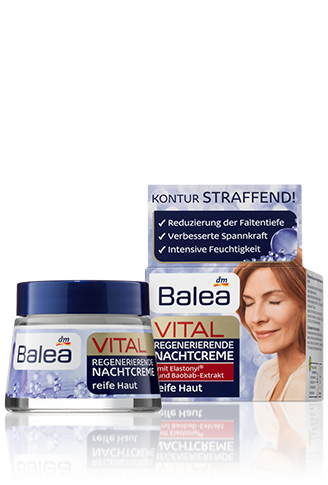 Крем для лица Balea Vital Regenerierende ночной для ухода за зрелой кожей 50 мл