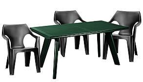 Стол пластиковый Dante, зеленый, фото 2