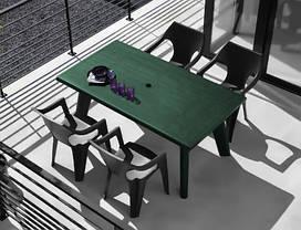 Стол пластиковый Dante, зеленый, фото 3