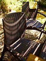 Стул пластиковый Bali, коричневый, фото 2