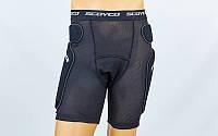 Шорты защитные для экстремальных видов спорта SCOYCO PM01 (сетка-стрейч, р-р L,черный)
