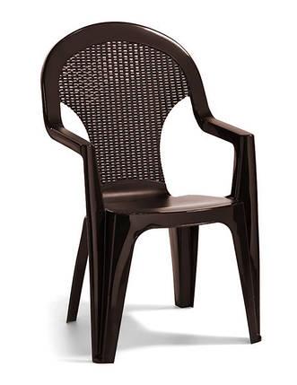 Стул пластиковый Santana, коричневый, фото 2