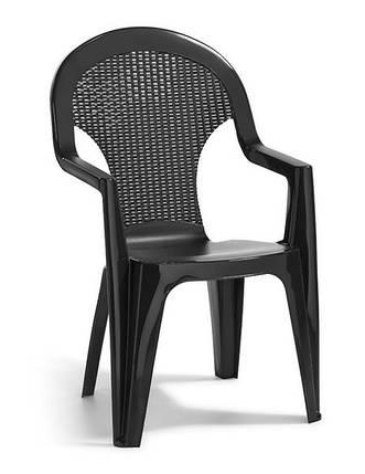 Стул пластиковый Santana, серый, фото 2
