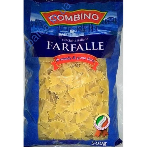 Макаронные изделия Combino Farfalle бантики 500 г, фото 2