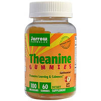 Jarrow Formulas, Желатиновые конфеты с теанином, аромат яблока, без сахара, 100 мг, 60 желатиновых конфет