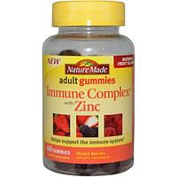 Nature Made, Жевательные витамины для взрослых, иммуностимулирующий комплекс с цинком, смесь ягод, 60 жевательных таблеток