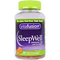 VitaFusion, SleepWell, средство, улучшающее сон, для взрослых, 60 жевательных таблеток