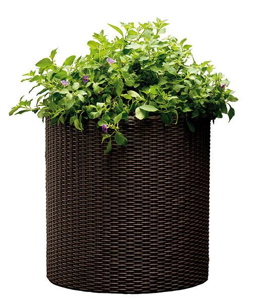 Горшок для цветов 18 л. Cylinder Planter Medium, коричневый