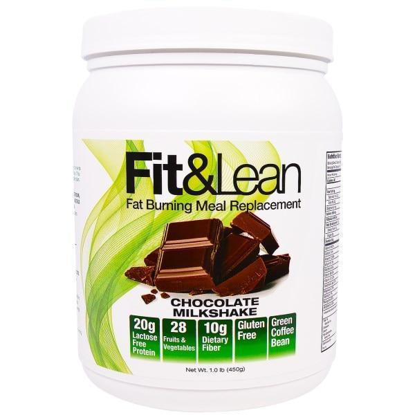 Maximum Human Performance, LLC, Fit & Lean, Сжигающий Жир Заменитель Еды, Шоколадный Молочный Коктейль, 1 фунт ( 450 г)