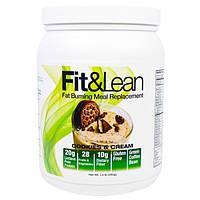 Maximum Human Performance, LLC, Fit & Lean, Сжигающий Жир Заменитель Еды, Печенье со Сливками, 1 фунт ( 450 г)