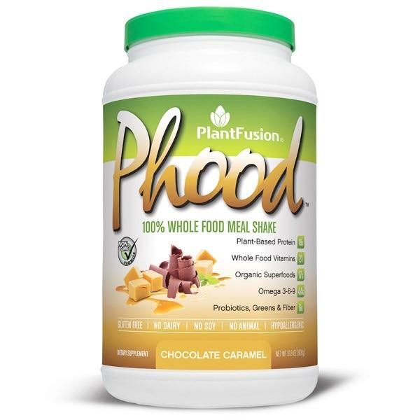 PlantFusion, Phood, живильний коктейль із цільних рослинних продуктів, смак шоколад і карамель, 31.8 унцій (900 г)