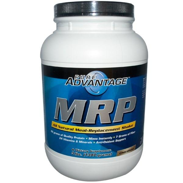 Pure Advantage, MRP, Заменитель пищи, со вкусом шоколада, 3 фунта (1380 г)
