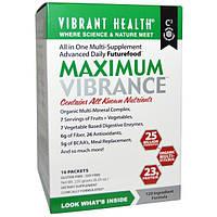 Vibrant Health, Maximum Vibrance, органический мульти минеральный комплекс,10 пакетиков, 0,83 унции (23.5 г) каждый