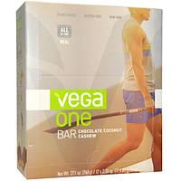 Vega, One Bar, шоколадные батончики с кокосом и кешью, 12 батончиков по 2,26 унций (64 г)