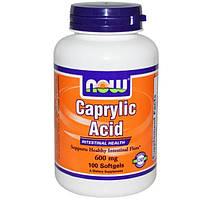 Now Foods, Каприловая кислота, 100 мягких капсул