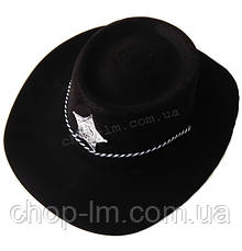 Шляпа Шерифа (черная пластик), фото 3