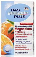 Биологически активная добавка Das Gesunde Plus  Магний + Витамин С + Витамин B6 + B12 30 таблеток