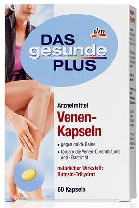 Витаминный комплекс Das gesunde Plus Venen-Kapseln 60 шт