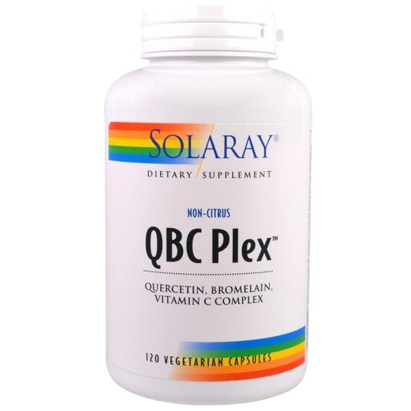 Solaray, QBC Plex - комплекс кверцетина, бромелайна и витамина С, 120 вегетарианских капсул