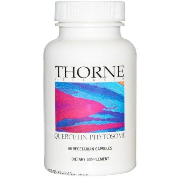 Thorne Research, Кверцитин фетосома, 60 растительных капсул