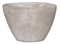 Горшок для цветов 2,1 л. глина, белый