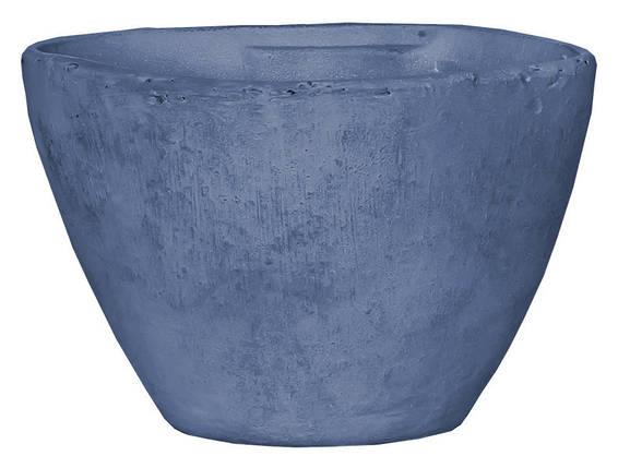 Горшок для цветов 3,1 л. глина, голубой, фото 2