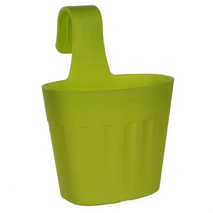 Горшок для цветов Fiorenza 3,8 л. зеленый, фото 2
