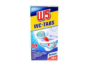 Таблетки для чистки туалета W5 WC - Tabs в ассортименте 16шт