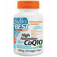 Doctors Best, Коэнзим Q10 с высокой степенью поглощения, с биоперином, 100 мг, 60 растительных капсул