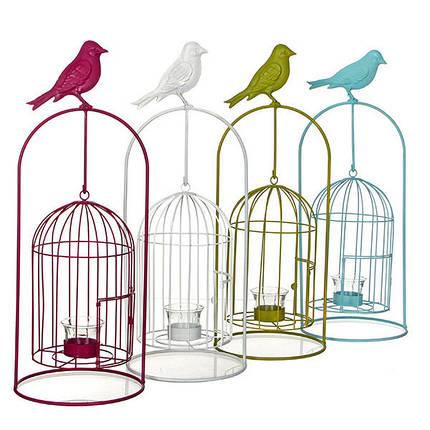 Изделие декоративное в виде клетки для птиц, комплект из 4-х шт. белый, фото 2