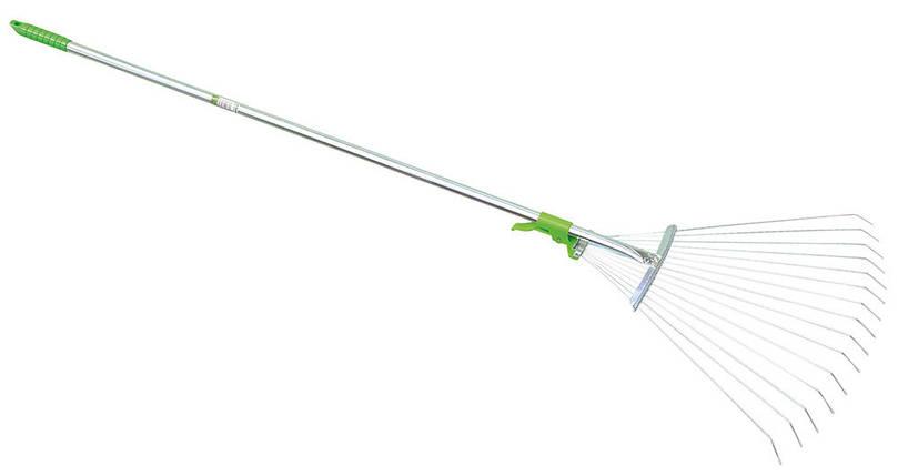 Грабли веерные, с металлической ручкой, 120 см, арт. 3923, фото 2