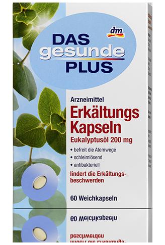 Витаминный комплекс Das Gesunde Plus Erkältungs Kapseln Eukalyptusöl 60таб