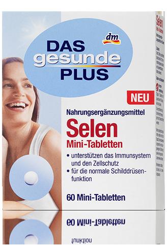 Биологические активные добавки Das Gesunde Plus Selen Mini-Tabletten Селен 60таб
