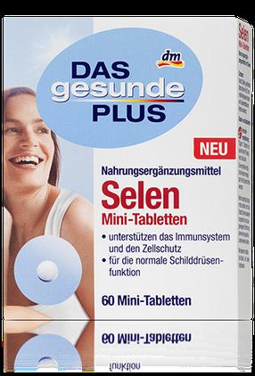 Биологические активные добавки Das Gesunde Plus Selen Mini-Tabletten Селен 60таб, фото 2