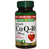 Natures Bounty, Q-Sorb, коэнзим Q-10 плюс, 100 мг, 60 капсул