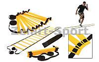 Координационная лестница дорожка для тренировки скорости 6м (12 перекладин) C-4111 (6мx0,52мx4мм)