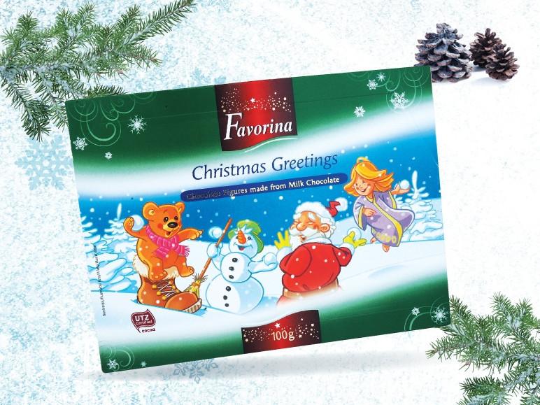 Шоколадные фигурки Favorina 100г