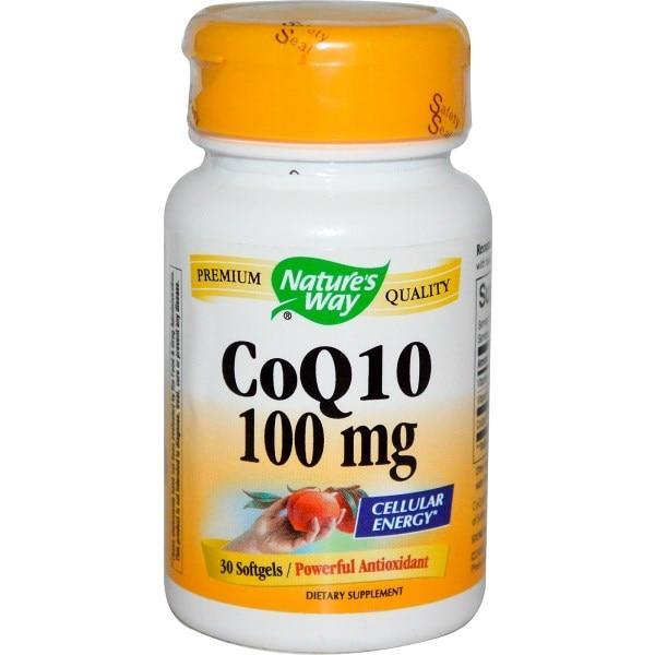 Natures Way, Коэнзим Q10, 100 мг, 30 гелевых капсул