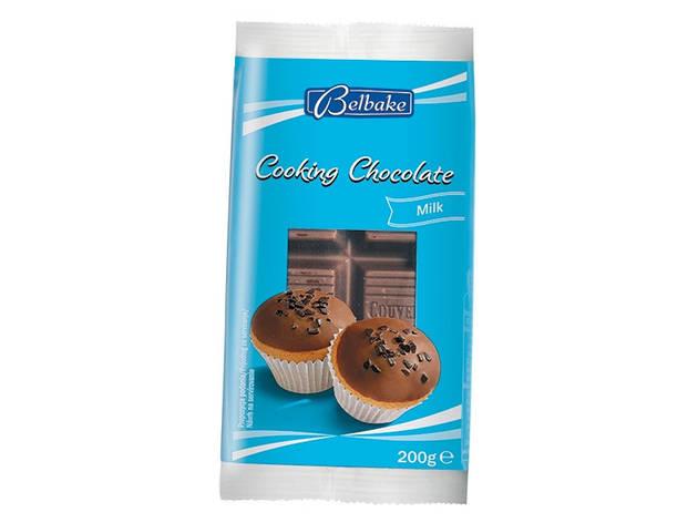 Шоколад Belbake кондитерский молочный 200 г, фото 2