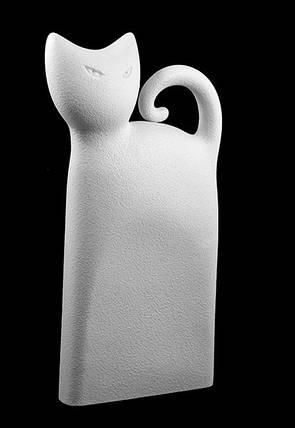 """Статуэтка N38/A """"Кот"""" 30 см, бел., фото 2"""