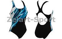 Купальник для девочек спортивный AR-23857-58-6 STREAM (возраст 6-7 лет, черный-синий)