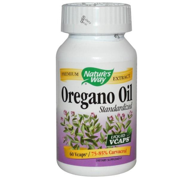 Natures Way, Стандартизированное масло орегано, 60 капсул