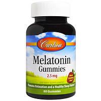 Carlson Labs, Мелатонин, клубника, 2,5 мг, 60 конфет