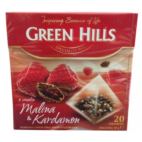 Чай Green Hills Gold Malina & Kardamon 20 пакеотв